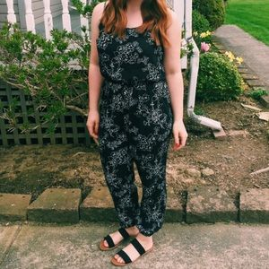 American Eagle Outfitters Floral Print Jumpsuit